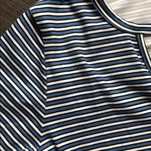 Socialite Dresses - Socialite 3/4 sleeve striped t-shirt dress